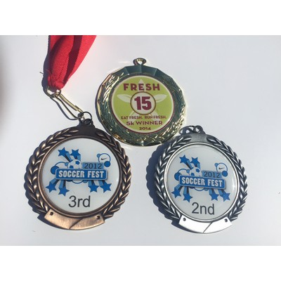 Medal with Full Color Domed Label