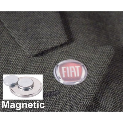 Domed Magnetic Lapel Pins